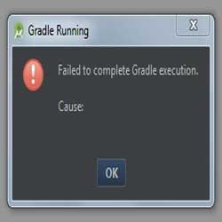 حل مشکل ارور failed to complete gradle execution در android studio